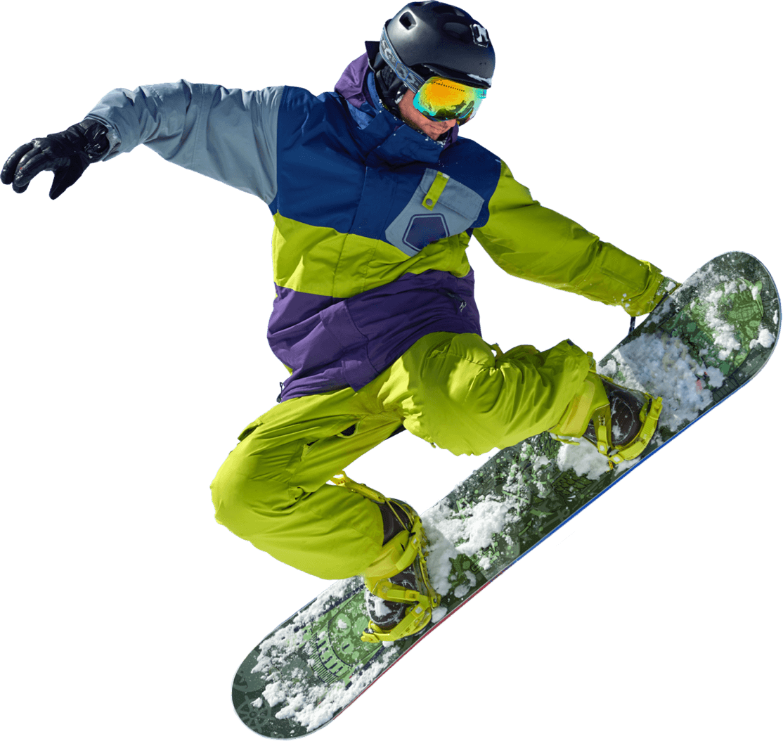 Snowboarder-Vrijstaand