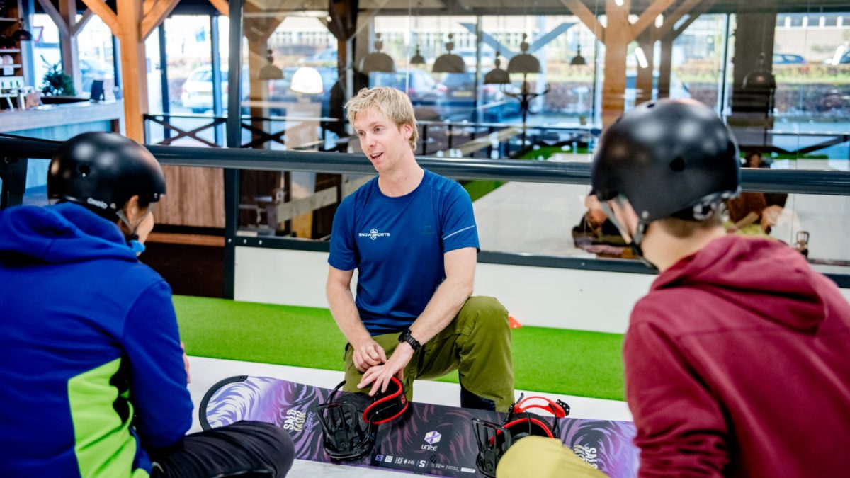 Snowboardlessen indoor Snowsportszwolle